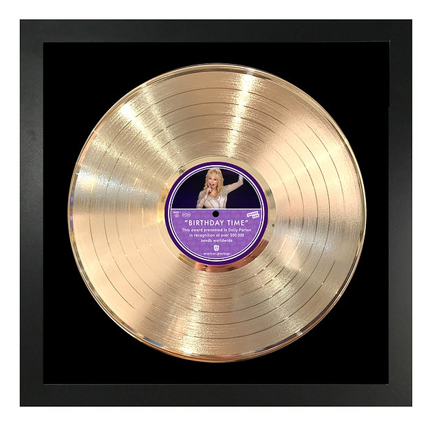 FRAMED LP - Gold_Black Matboard_14 x 14.
