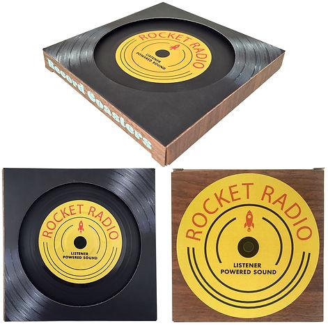 Mini Record Coaster Paperboard Box MSTRL