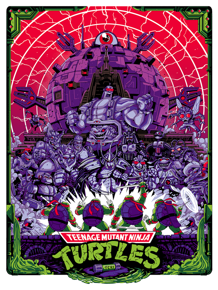 Cartazes das Tartarugas Ninja