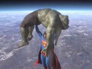 Superman vs Hulk em animação fan made