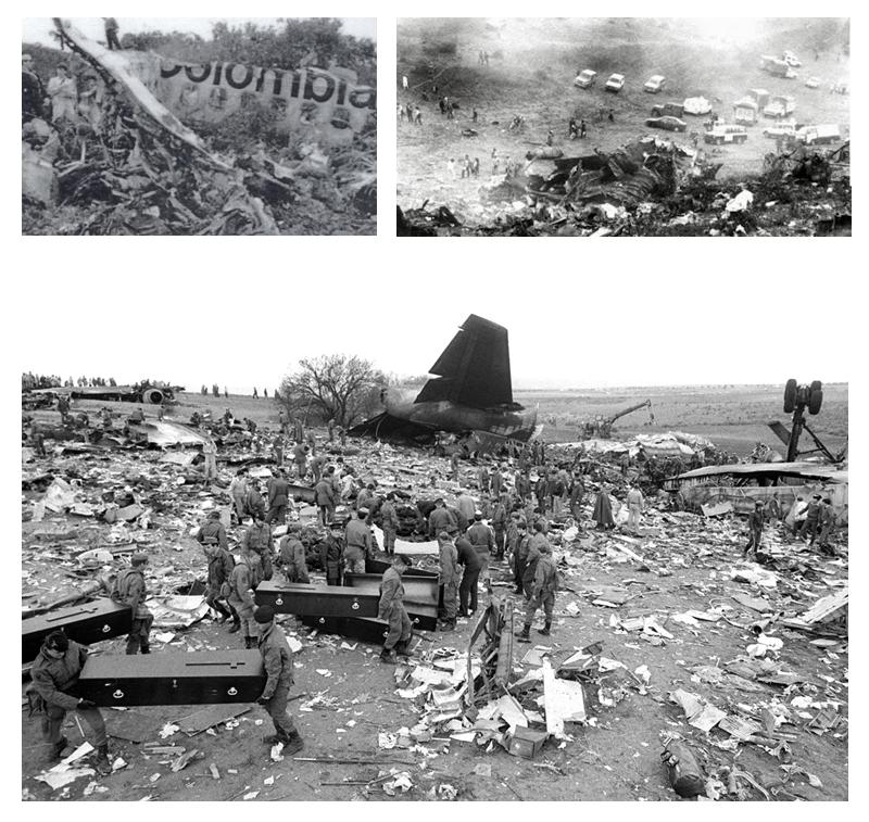 Imagens reais do avião explodido de Narcos