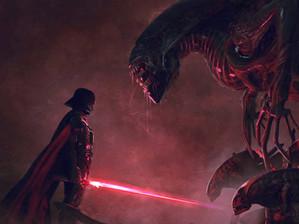 Darth Vader vs Aliens em Fan Art