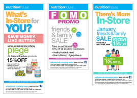NutritionHouse E-Blast Promo