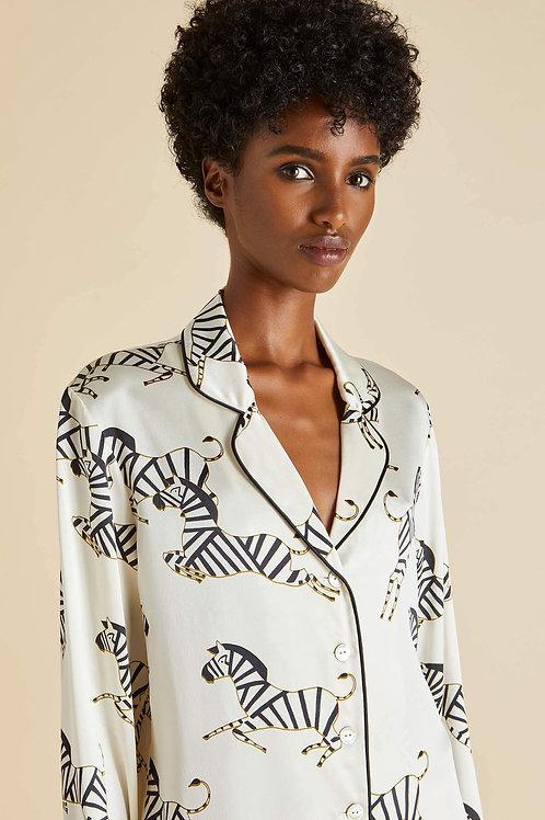Lila Zebedee Silk Pyjama