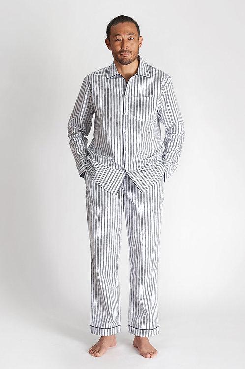 Henry Pyjama Set - Scribble Stripe