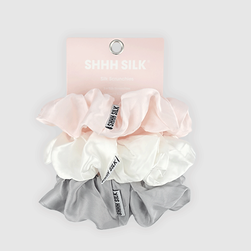 3 Pack Mixed Large Silk Scrunchies