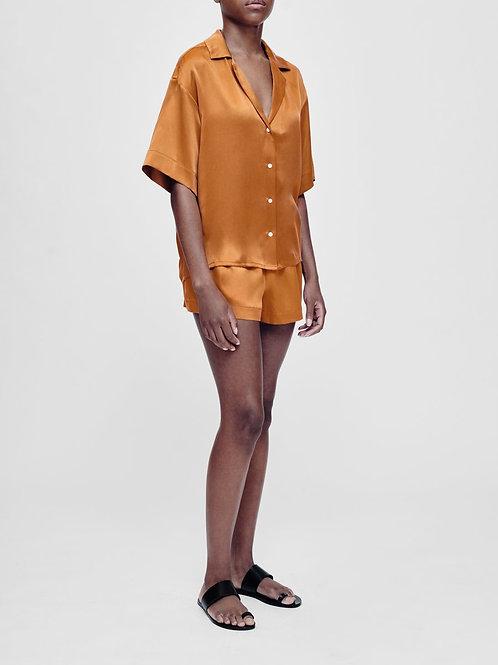 Prague Caramel Silk Pyjama Set
