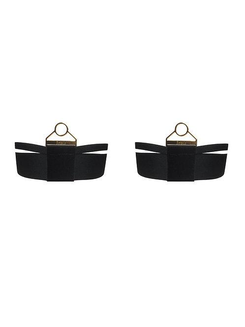 Bordelle Wide Strap Garters - Black