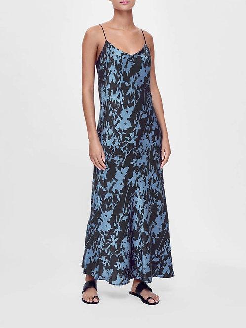 Lyon Black Leaf Slip Dress