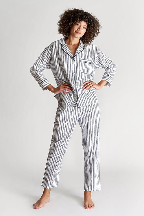 Marina Pyjama Set - Scribble stripe