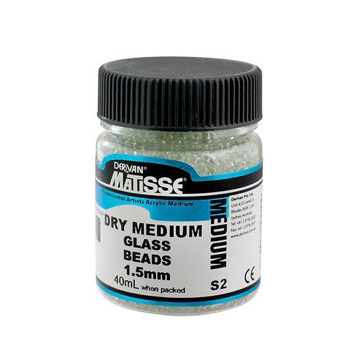 DRY MEDIUM GLASS BEADS 1.5