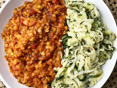 The Easiest Two-Ingredient Red Lentil Bolognese!