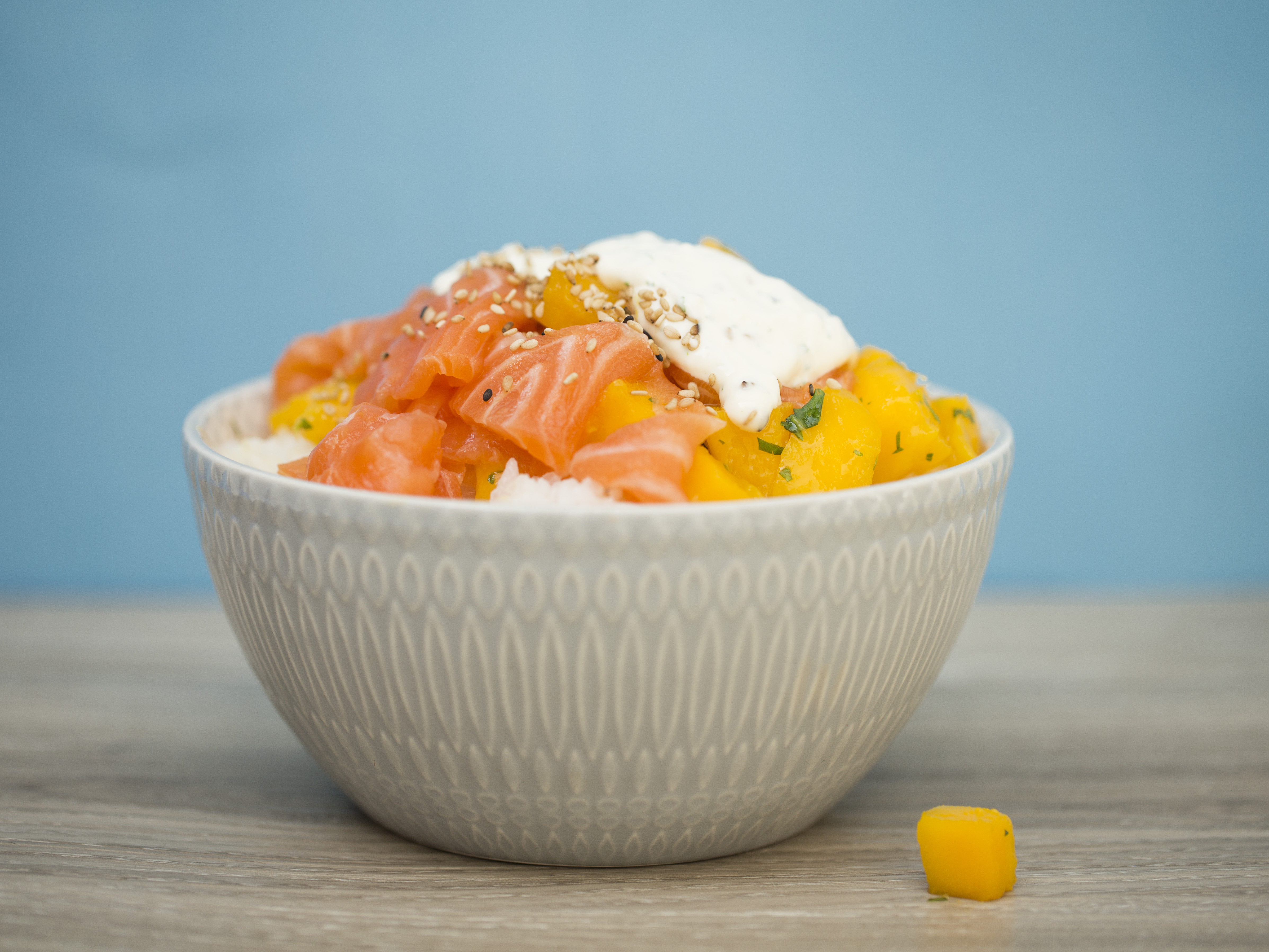 Fresh Salmon- delivery sushi bowls