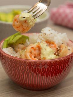Spicy Shrimp sushi bowl