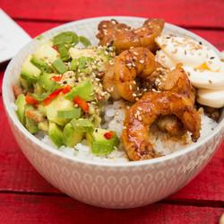 Honey Shrimp- delivery sushi bowls