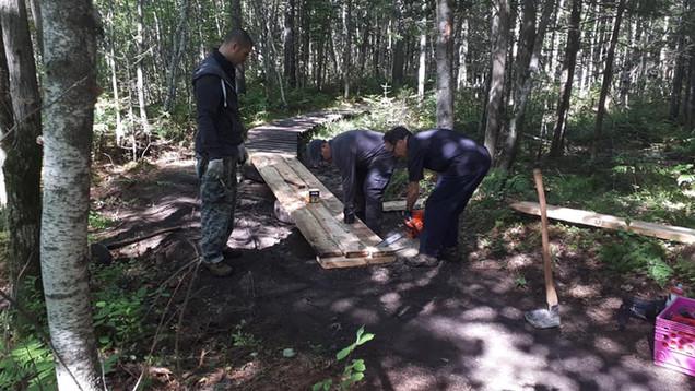 Corvée de bois dans la Première