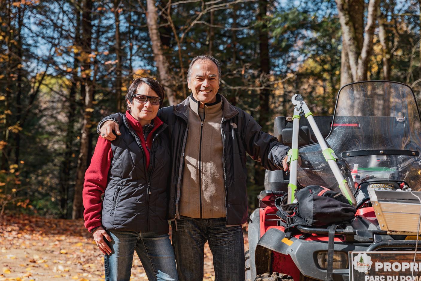 Guy Milette et sa femme