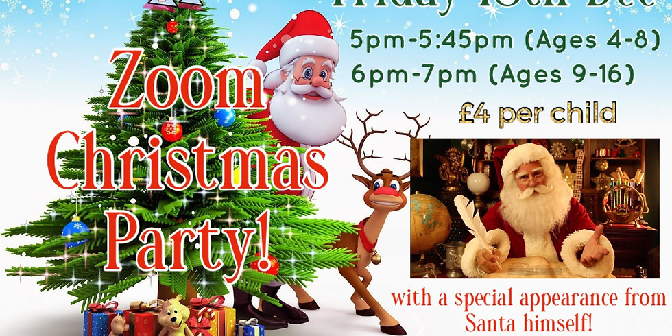(Ages 4-8) Zoom Christmas Party!