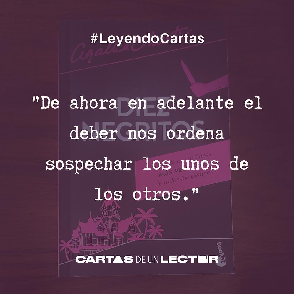 Frase/quote Diez negritos Agatha Christie