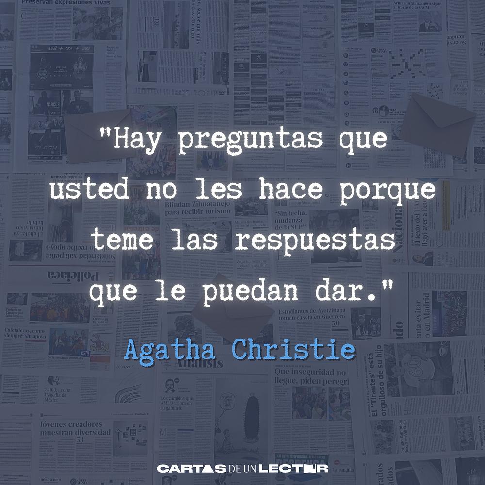Frase/quote El caso de los anónimos Agatha Christie