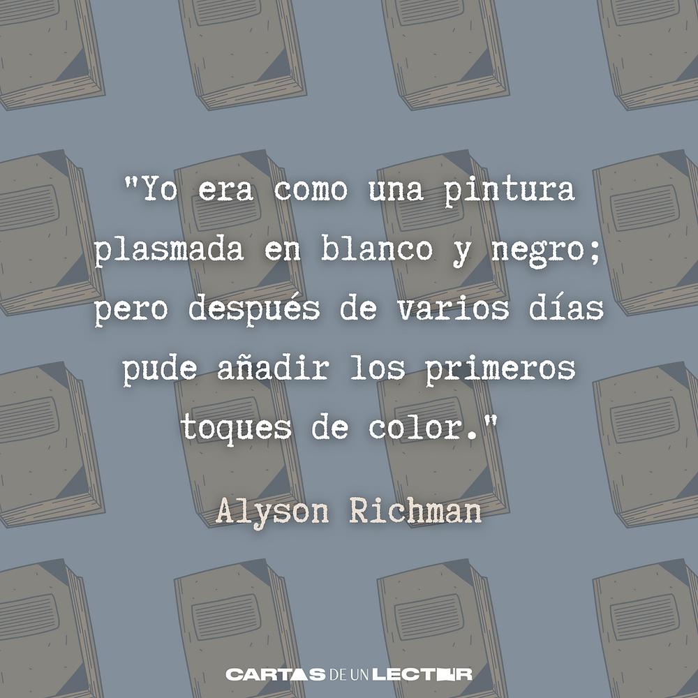 Frase/quote Los Amantes de Praga Alyson Richard