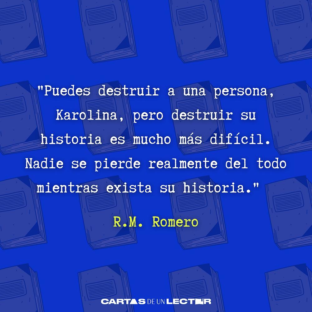 Frase/quote El fabricante de muñecas R.M. Romero