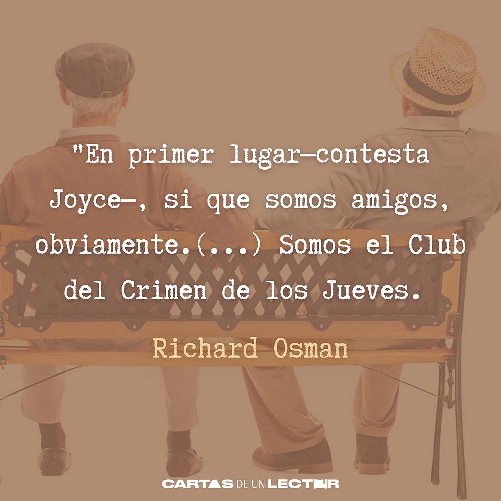 Frase/quote El club del crimen de los jueves Richard Osman
