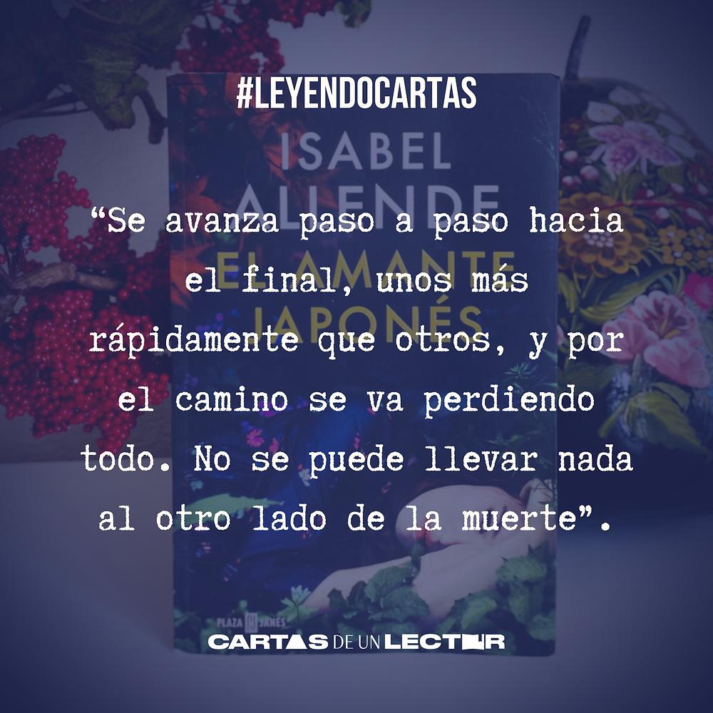 Frase/quote El Amante Japonés Isabel Allende