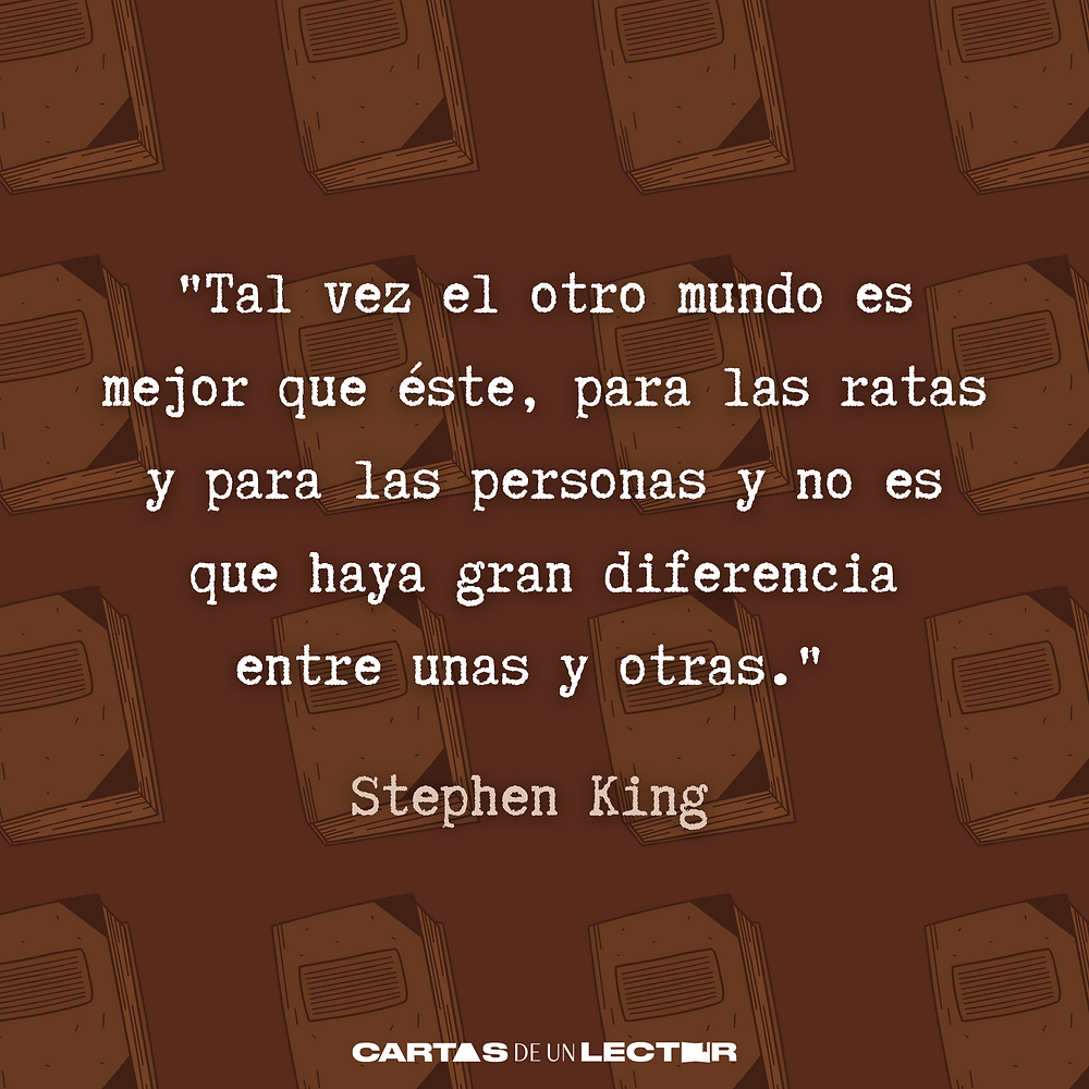 Frase/quote Misery Stephen King