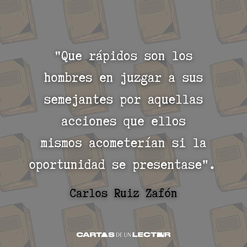 Frase/quote La ciudad de vapor Carlos Ruiz Zafón