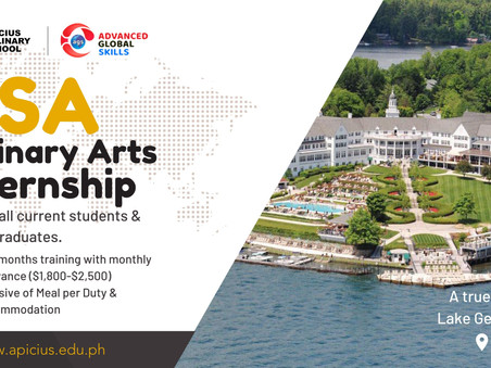 USA Culinary Arts Internship: Opportunities for Apicius Students and Graduates