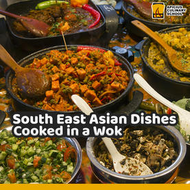 South East Asian Dishes cooked in the Wok
