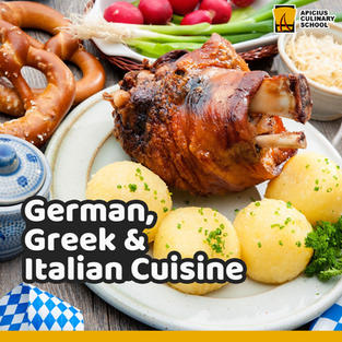 German, Greek and Italian Cuisine
