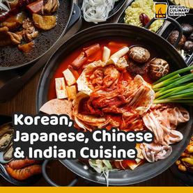 Korean, Japanese, Chinese & Indian Cuisine