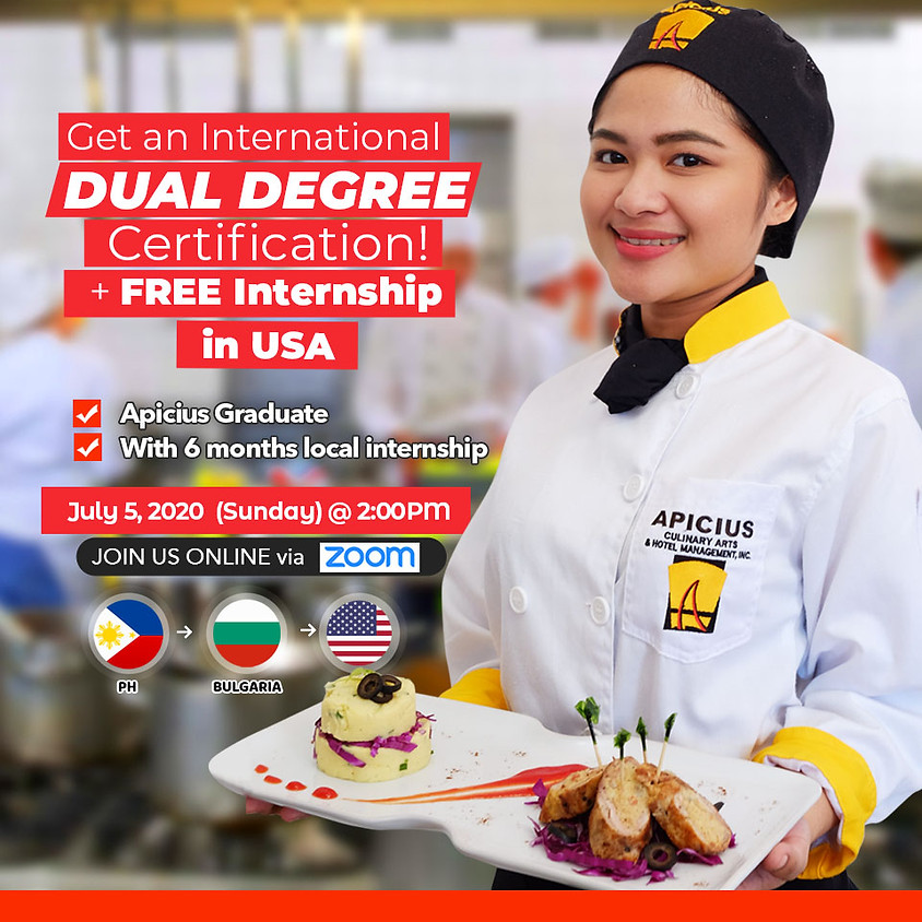 International Dual Degree Diploma + Free Internship in USA