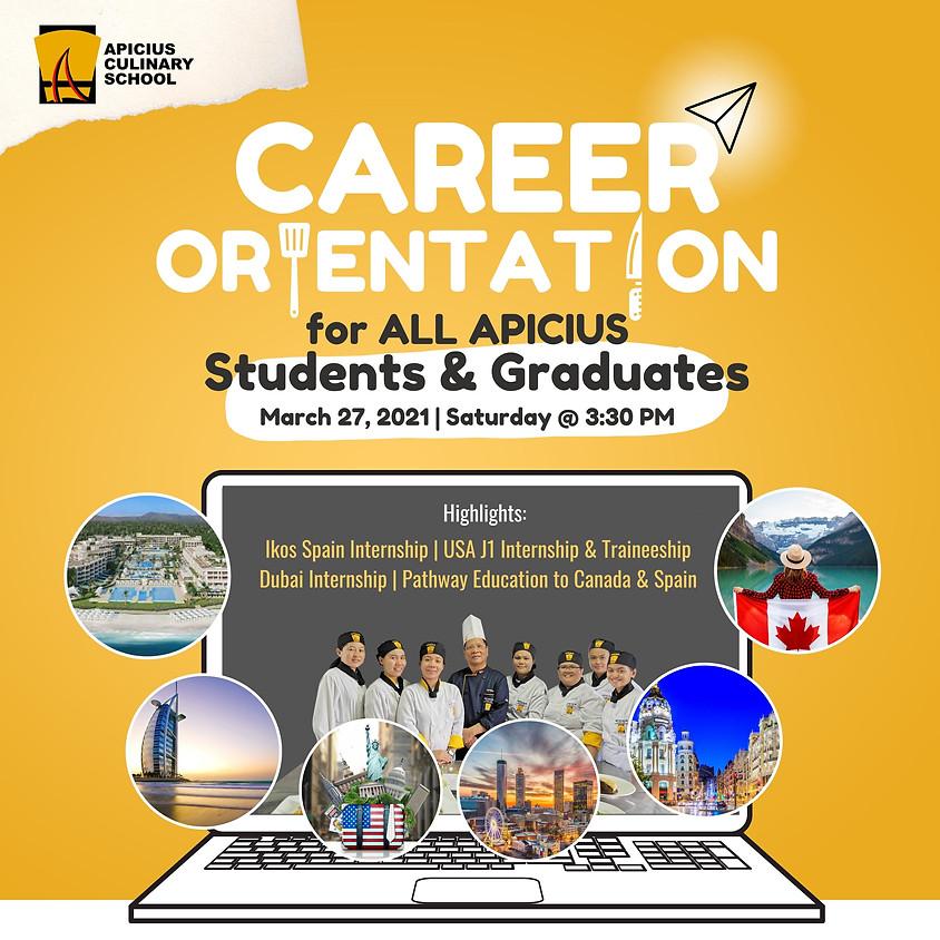 Career Orientation: Opportunities for Apicius Students and Graduates