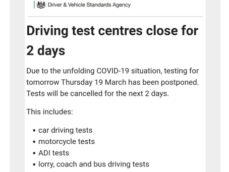 No tests for 2 days could be longer