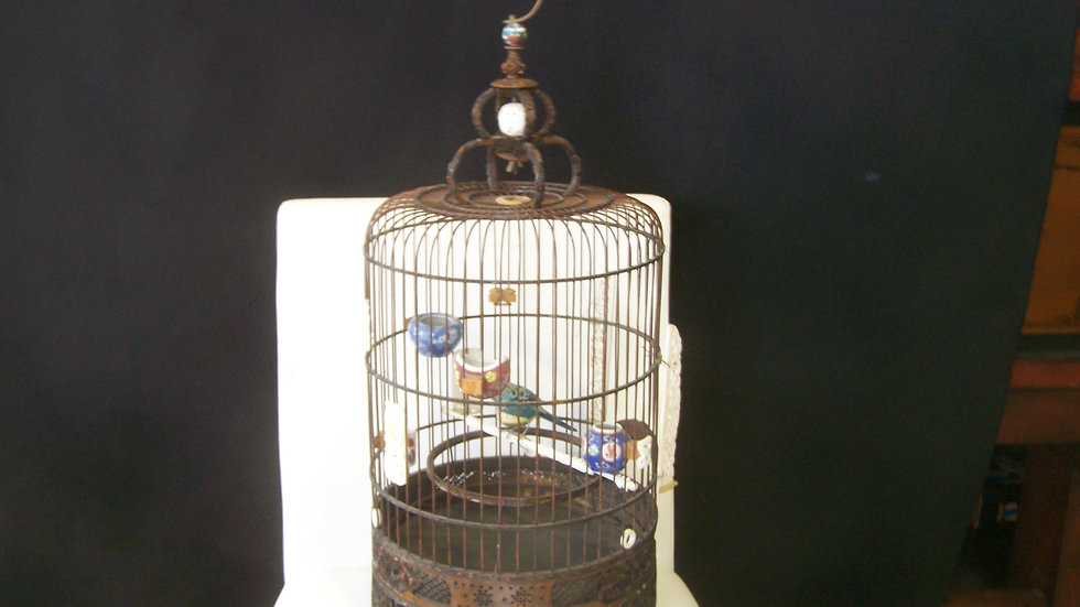 rare vintage birdcage