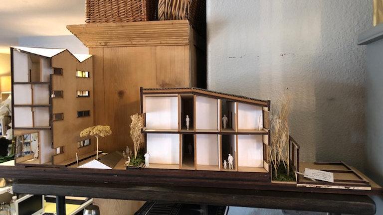 Vintage 60's Architect's house model