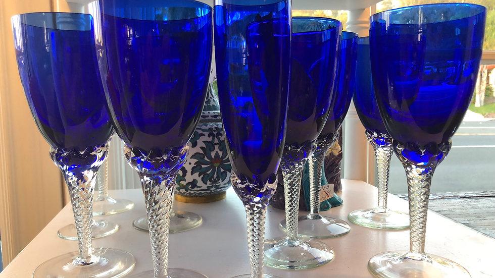 Beautiful blue stemware