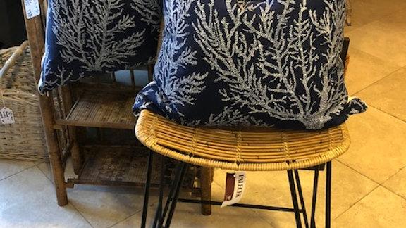 Custom Navy blue/white coral pillows