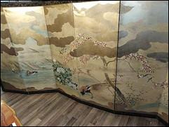 Paravant Japan um 1880