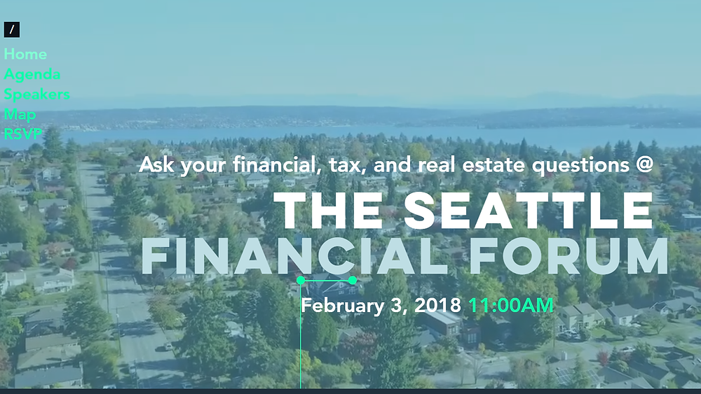 Seattle Financial Forum Website Snapshot