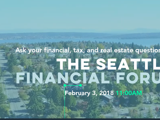 Seattle Financial Forum - come ask your financial, tax, and real estate questions over a free brunch