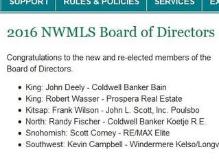 Robert Wasser Elected to NWMLS Board of Directors