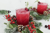 Be Merry and Bright With A Cranberry Sage CBD Spritz