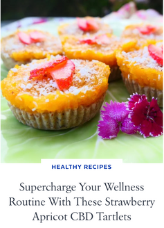 Supercharge Your Wellness Routine With These Strawberry Apricot CBD Tartlets