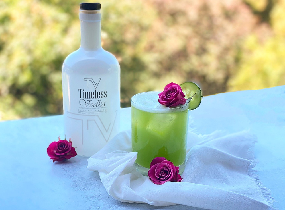 Cucumber Rose Timeless Soda By Jamie Evans, The Herb Somm