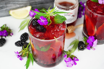 Quench Your Thirst With A Blackberry CBD Mojito
