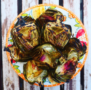 Infused Grilled Artichokes with Lemon & Spices